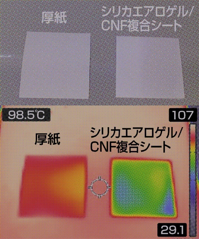 紙の6分の1の軽さで空気より高い断熱性、新開発のCNF複合材がスゴイ
