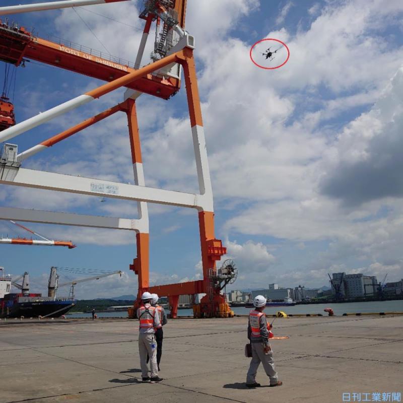 ドローンがクレーン点検! 三井E&Sとゼンリンの連携で安全性と精度を向上