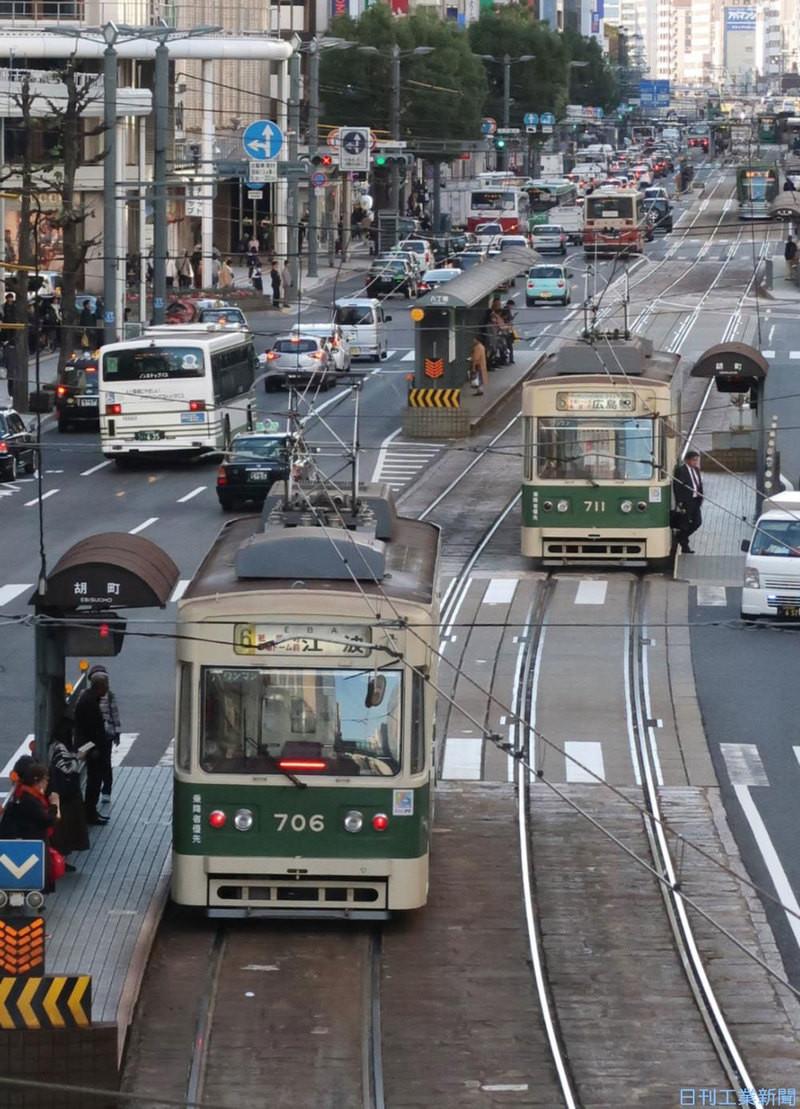 走る 前 仕事 電車 を 路面