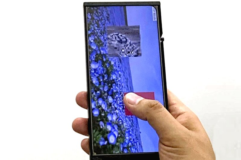 「脱・液晶への道」、JDIが画面どこでも指紋を認識するセンサー兼タッチパネル開発!