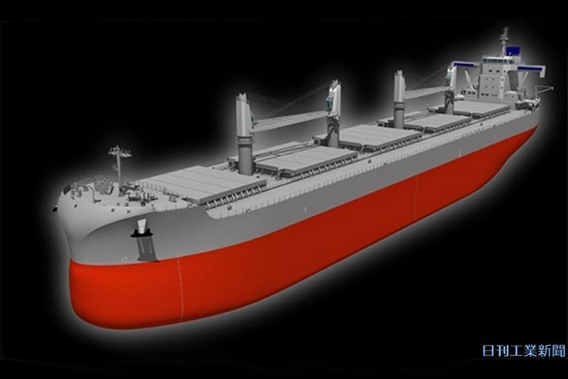 常石造船が23年に完成へ。中型バラ積み船の新船型の全貌