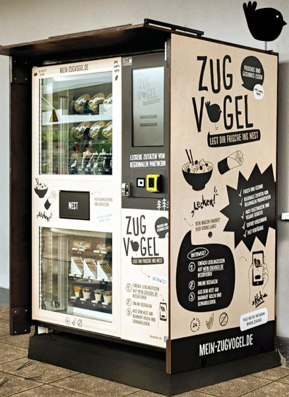 新鮮食料品をドイツの駅で無休販売。貨幣処理機メーカーが開発したIoT自販機の仕組み