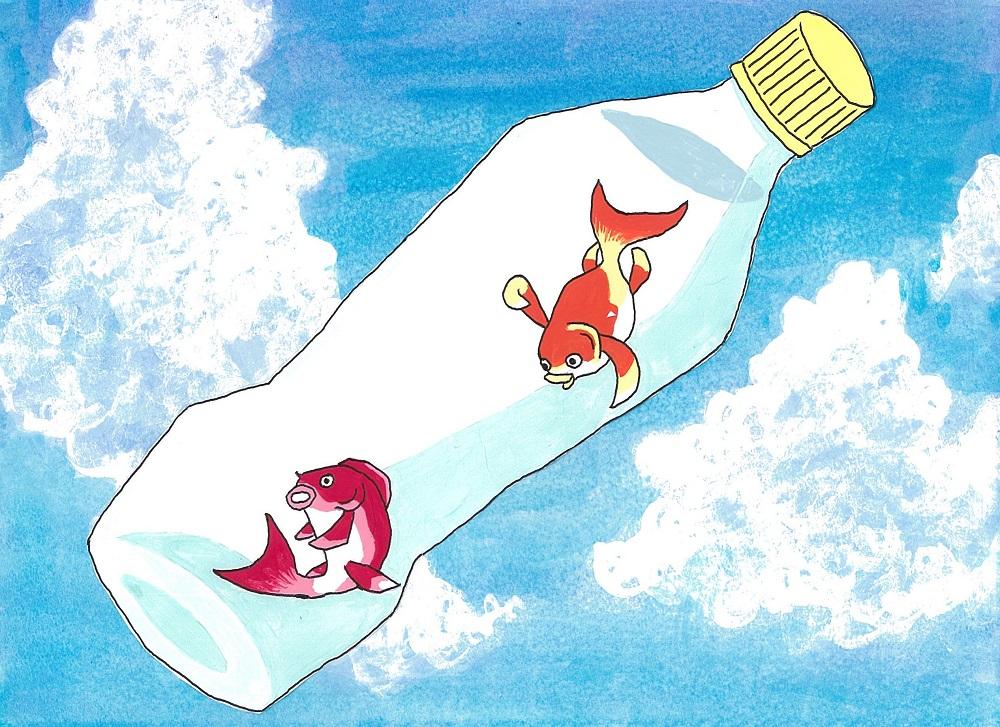 """【動画あり】自由研究にオススメ!住友化学が魚型""""浮沈子""""の作り方伝授"""