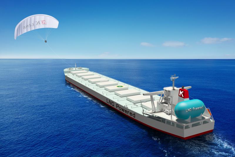 凧で船舶を自動操縦!川崎汽船が仏エアシーズと共同開発